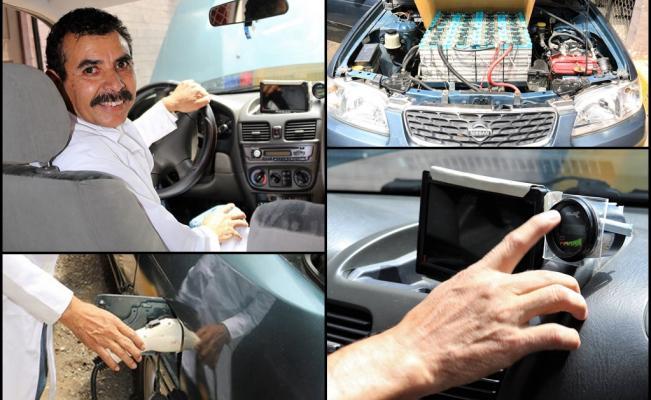 Profesor del IPN convirtió su auto de gasolina a eléctrico, recorre 25 km por 4 pesos