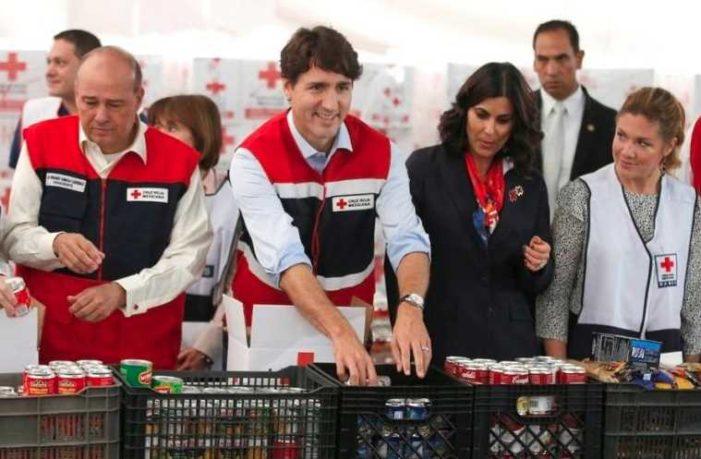 Justin Trudeau llega a México y se suma como voluntario en la Cruz Roja