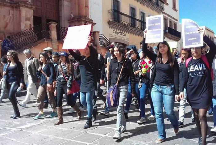 Marchan por justicia en Zacatecas por feminicidio de Cinthia