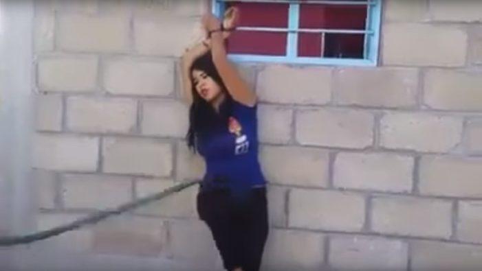 Amarra y golpea a mujer por supuesta infidelidad, ella suplicó que se detuviera (VIDEO)