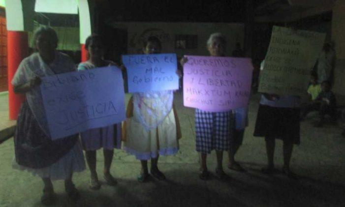 Funcionarios ebrios de Olintla golpearon e insultaron a mujeres totonacas