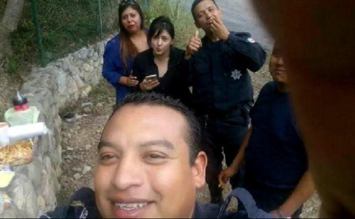 Policías de Nuevo León graban video conduciendo patrulla a exceso de velocidad
