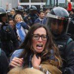 761 heridos en Cataluña por represión policial contra referéndum independentista