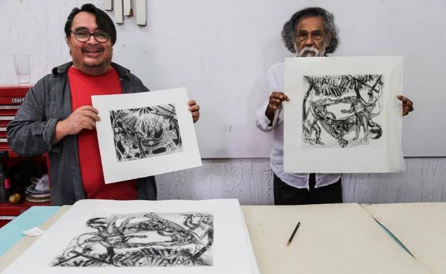 Toledo vende grabados para apoyar la reconstrucción y a damnificados de Oaxaca