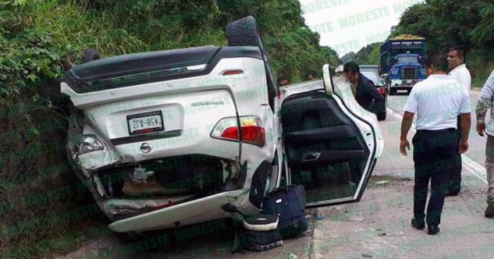 Cuitláhuac García sufrió accidente en carretera, el diputado se reporta sin lesiones