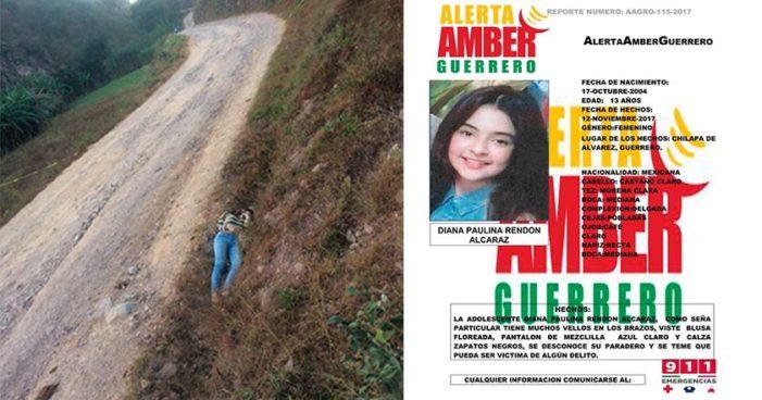 Guerrero: Diana Paulina Rendón Alcaraz, 13 años, torturada y asesinada en Chilapa