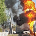 Explosión por robo de combustible alcanza a presunto huachicolero en Irapuato