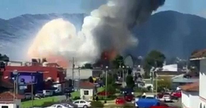 Explota taller de pirotecnia en San Cristóbal de las Casas (Video)