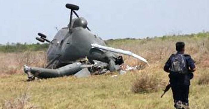 Guerrero: Se desploma helicóptero del Ejército que fumigaba amapola, fallece el piloto