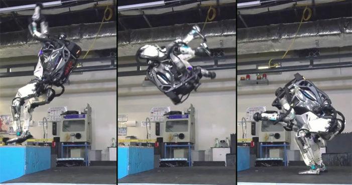 Ingenieros consiguen que robot Atlas pueda dar saltos mortales (Video)