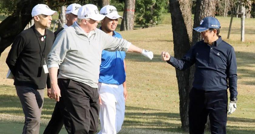 Shinzo Abe caída primer ministro de Japón mientras jugaba golf con Trump