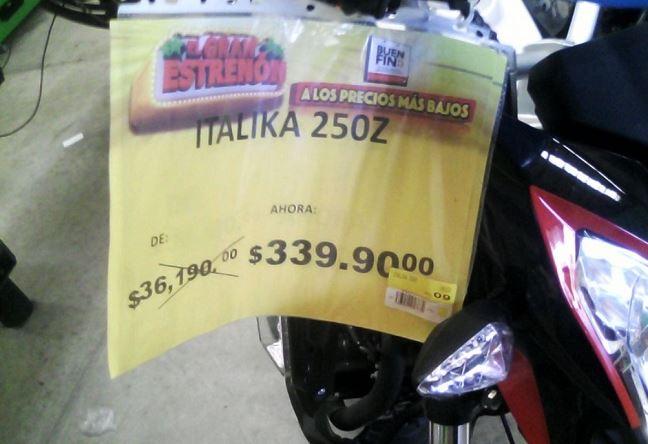 Ofertan por error moto en 339 pesos en Bodega Aurrera de Campeche, niegan venderla