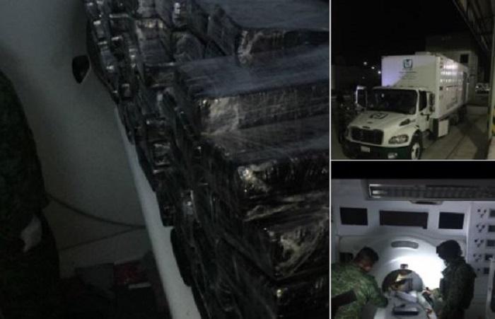 Presunto camión del IMSS movilizaba más de 371 kilos de cocaína