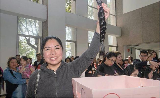 Organizan 'trenzaton';  donación de cabello para personas con cáncer