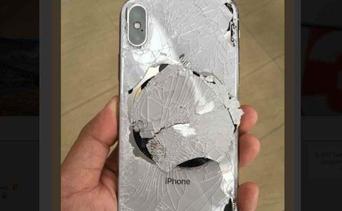 Compró iPhone X y lo rompió el mismo día