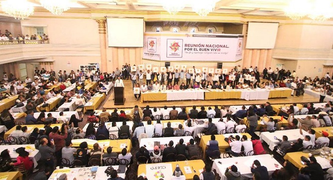 MNE ratifica respaldo a AMLO y conformarán columnas de apoyo en todo el país