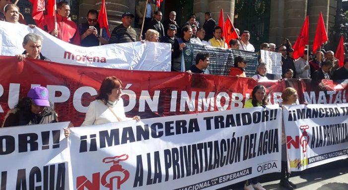Mancera, PRI, PAN, PRD pretenden privatizar el agua en la CDMX: alerta Morena