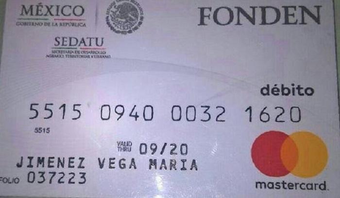 Clonan tarjeta de daminificado de Oaxaca y le roban 13 mil pesos de reconstrucción