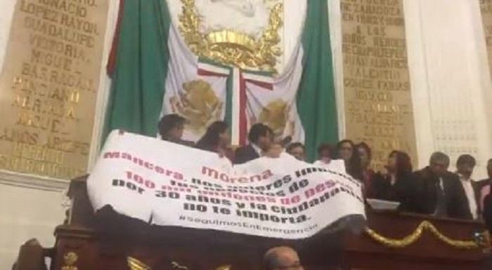 Aprueban diputados deuda por Planta Termovalorizadora pese a toma de tribuna de Morena