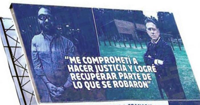 Yunes Linares promociona Primer Informe con la imagen de Duarte