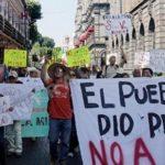 Indígenas nahuas protestan en el Parlamento de Canadá contra minera