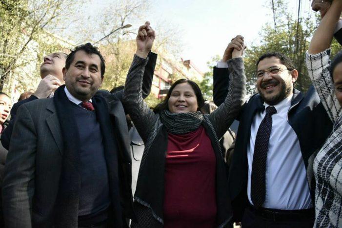 Citlalli Hernández y Martí Batres registran precandidatura por Morena al Senado