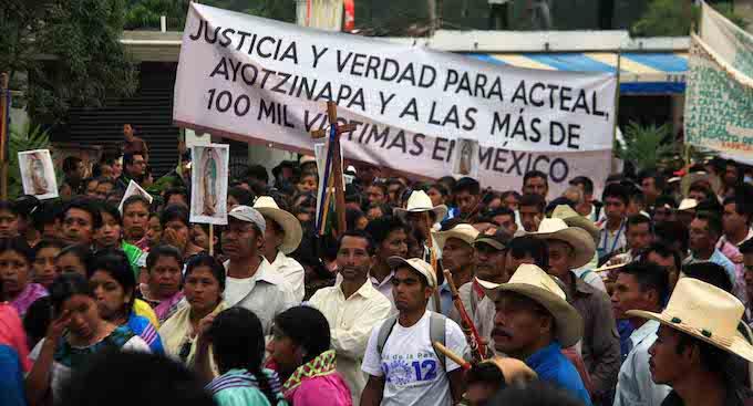 """Víctimas de Acteal claman: """"No más desplazados en Chiapas"""""""