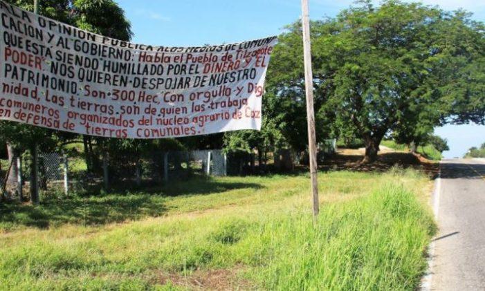 Persiste resistencia en Tilzapote, donde buscan despojar más de 300 hectáreas comunales