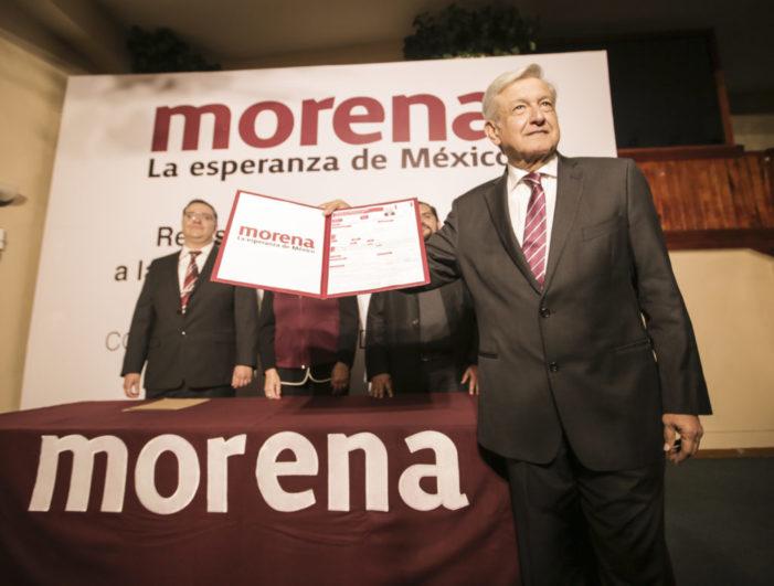Discurso de Andrés Manuel López Obrador en su registro como precandidato a la Presidencia