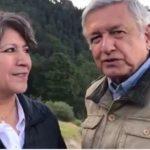 AMLO y Delfina Gómez se reúnen en Estado de México, harán gira de 3 días (VIDEO)