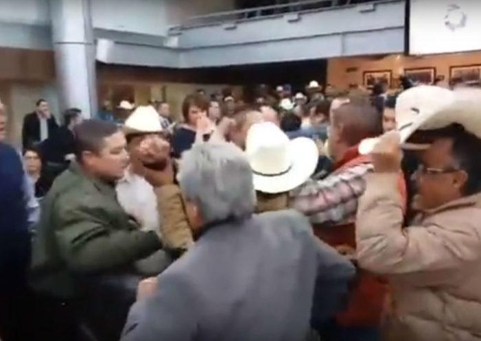 Diputados y campesinos pelean a golpes por el presupuesto en Chihuahua (Video)