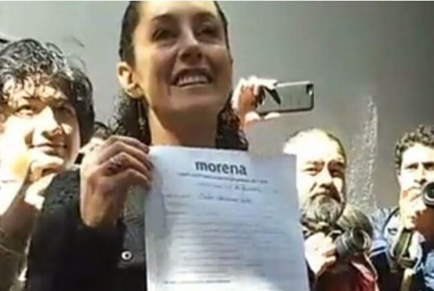 Claudia Sheinbaum se registra oficialmente como candidata por el gobierno de la CDMX