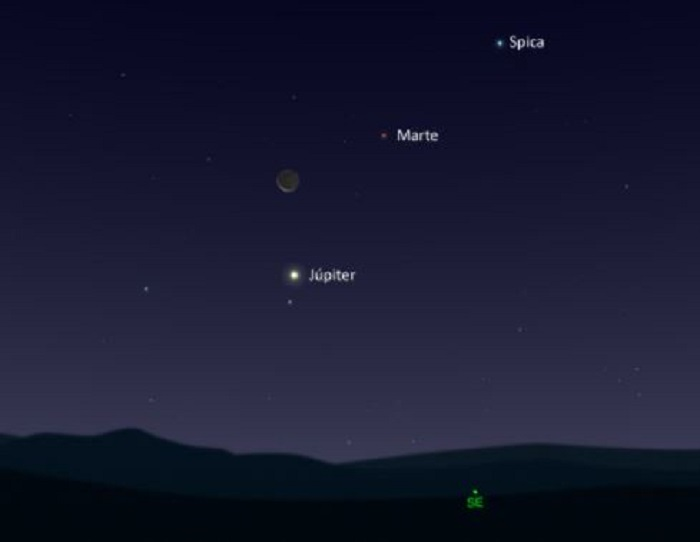 Además de la lluvia de estrellas, tres grandes astros se alinearán