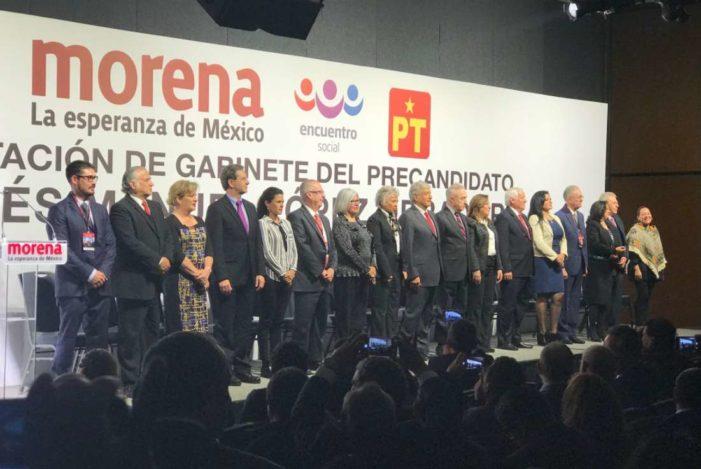 AMLO presenta a su posible gabinete presidencial