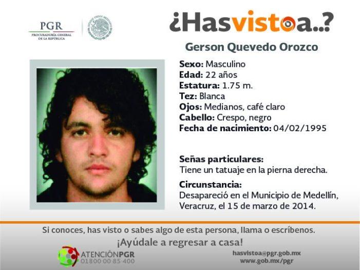 Gerson desapareció en Veracruz, 3 años después hallan sus restos en fosa clandestina