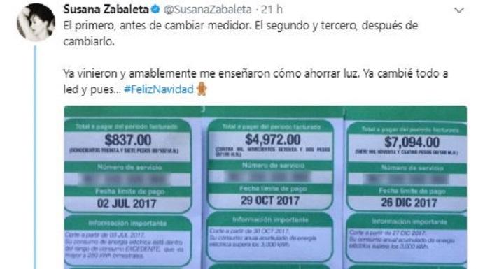 Con nuevo medidor de CFE, luz subió al doble y después al triple: Susana Zabaleta