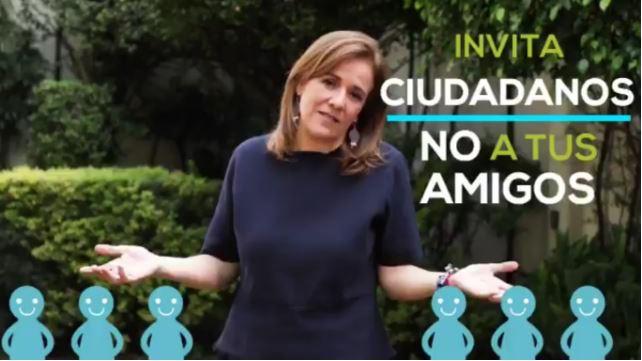 Margarita Zavala se burla y critica al Frente en un video de Twitter