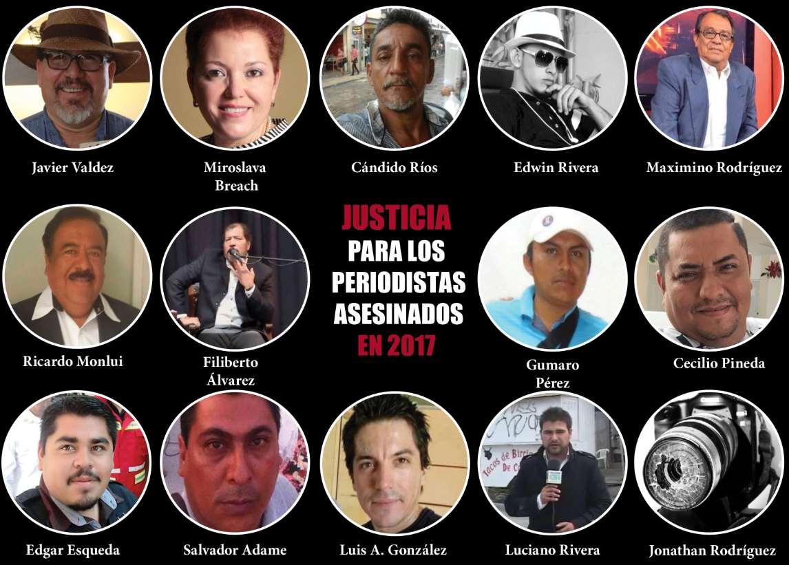 Lidera México muertes contra periodistas.-FIP