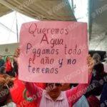 Sabotean vecinos de Ecatepec evento del alcalde por falta de agua