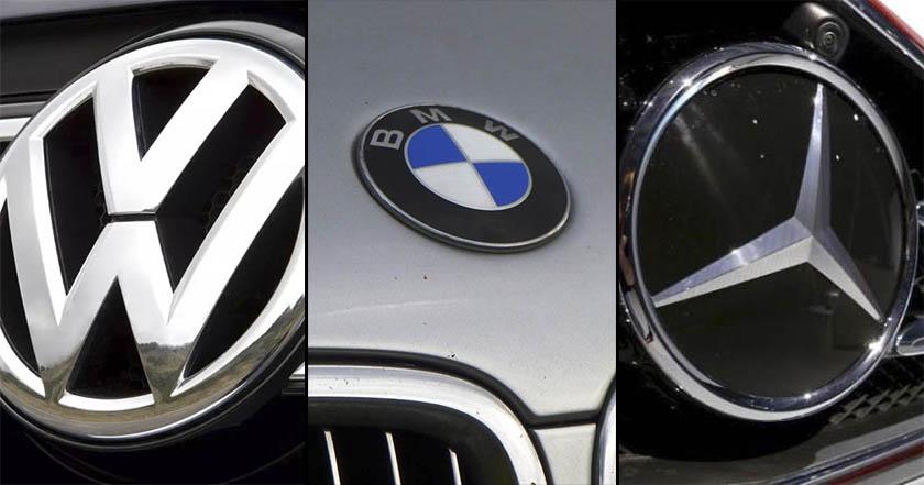 automotrices alemanas Volkswagen, Daimler y BMW