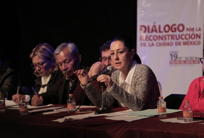 En Tlalpan Sheinbaum promovió apoyos a fondo perdido para los damnificados del 19s