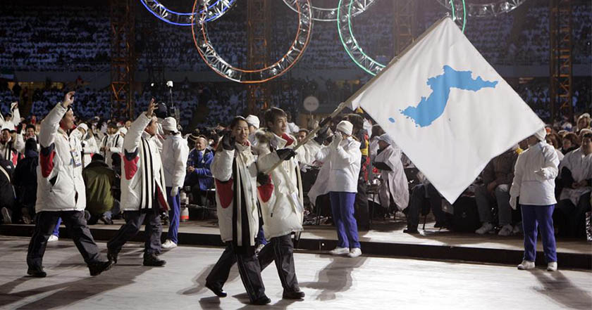 Corea del Norte y del Sur desfilarán juntas, bajo una misma bandera, en las Olimpiadas de Invierno 2018