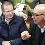 Dante Delgado impide que Anaya responda preguntas de prensa; 'nada de entrevistas banqueteras'