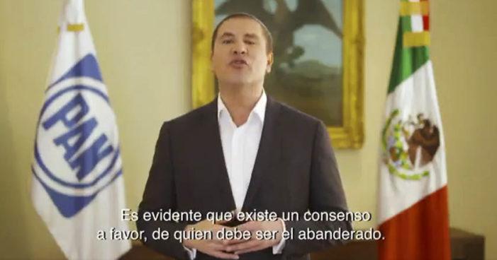 Declina Moreno Valle a favor de Anaya como candidato de coalición PAN-PRD-MC