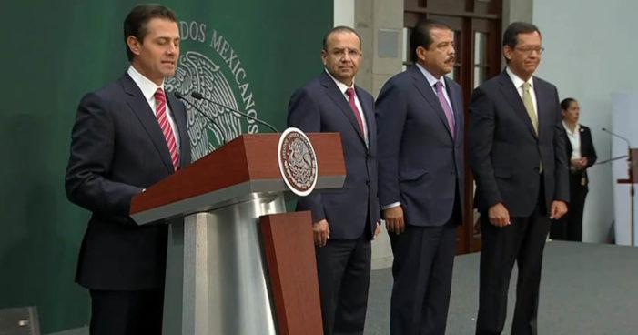 Estos son los cambios en el gabinete de Peña Nieto