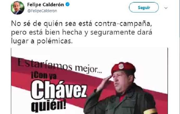 Calderón se suma a la 'guerra sucia' contra AMLO; usa de nuevo a Hugo Chávez