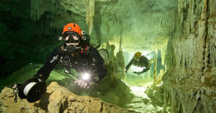 Hallan la cueva inundada más grande del mundo en Tulum (Video)
