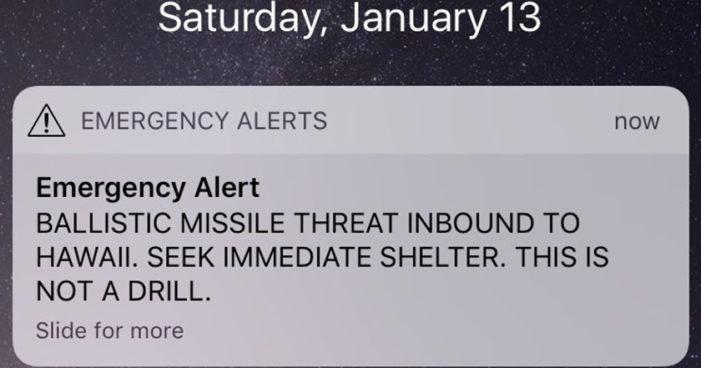 Hawai envía por error alerta de misil balístico a sus ciudadanos