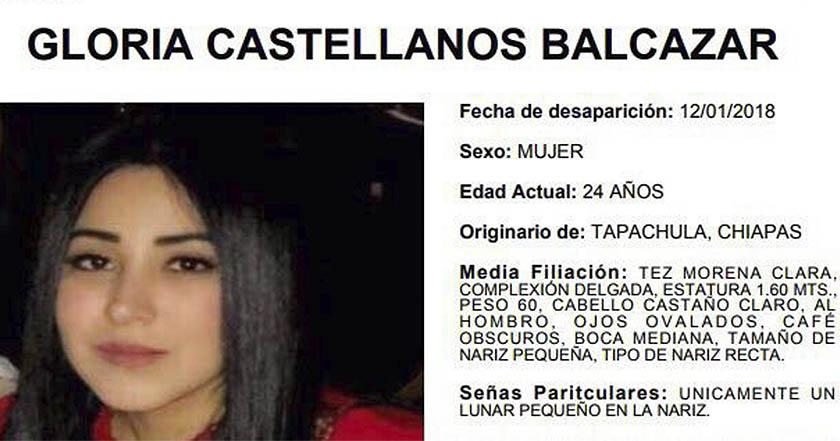 Localizan asesinada a joven desaparecida en Chiapas