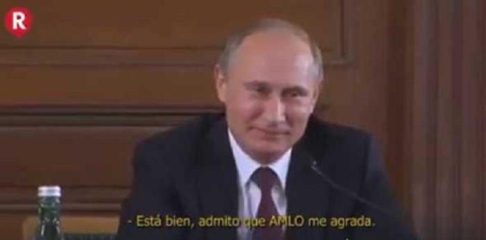 Sátira con Putin confirma 'apoyo' ruso hacia AMLO (VIDEO)
